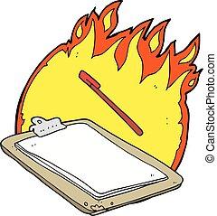 fuego, caricatura,  Clip, tabla