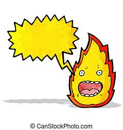 fuego, caricatura