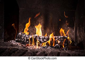 fuego, chimenea