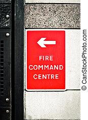 fuego, comando, centro