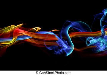 fuego, diseño, hielo, y