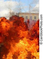 fuego, explosión