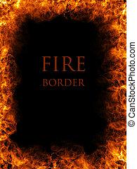 fuego, frontera