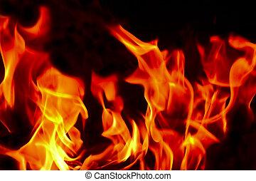 fuego, infierno, llamas