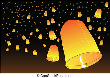 fuego, lanna, globos
