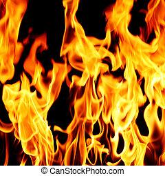 fuego, llama, cicatrizarse
