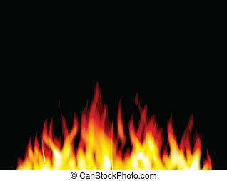 fuego, llama, usted, quemadura, diseño