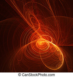 fuego, música, espiral