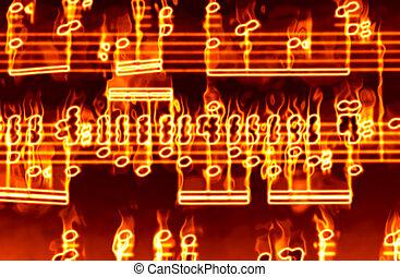 fuego, música