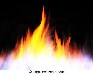fuego, negro, llamas