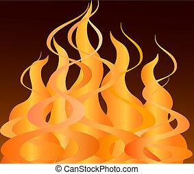fuego, primer plano