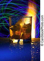 fuego,  Réflexion,  Alcohol, contra, vidrio