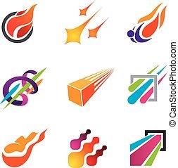 fuego, rastro, estilo, éxito, cometa