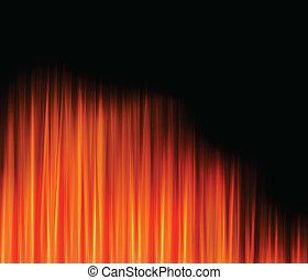 fuego, resumen, caliente, vector, llama, plano de fondo