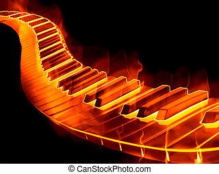 fuego, teclado