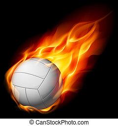 fuego, voleibol