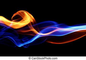 fuego, y, hielo, diseño