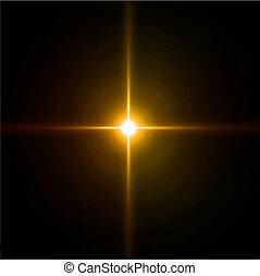 fuegos artificiales, explosión de la luz, flare., lente,...