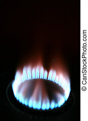 Natural gas from inside the blue image of darkness