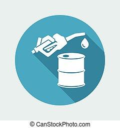 Fuel barrel flat icon
