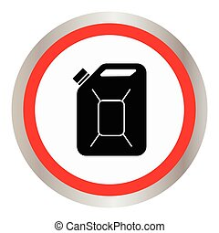 Fuel Can vector icon. Jerrycan oil.