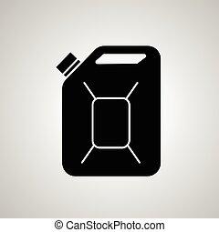 Fuel Can vector icon.