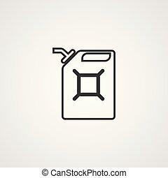 fuel can vector icon sign symbol