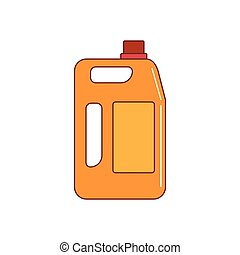 fuel canister icon, cartoon style