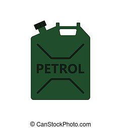 Fuel canister icon. Flat color design. Vector illustration.