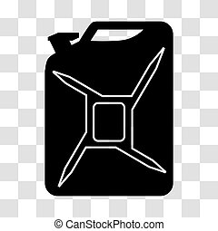 Fuel canister. Icon - Fuel canister on white background....