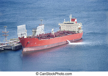 fuel-carrier in port for loading