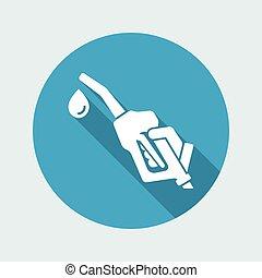 Fuel concept flat icon