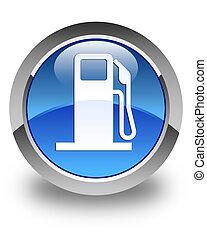 Fuel dispenser icon glossy blue round button