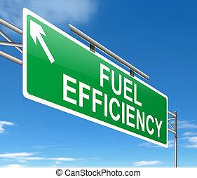 Fuel efficiency concept. - Illustration depicting a sign...