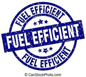 fuel efficient blue round grunge stamp