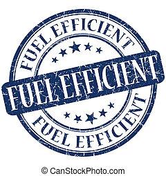 Fuel efficient grunge blue round stamp