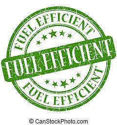 Fuel efficient grunge green round stamp