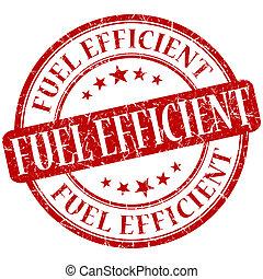 Fuel efficient grunge red round stamp