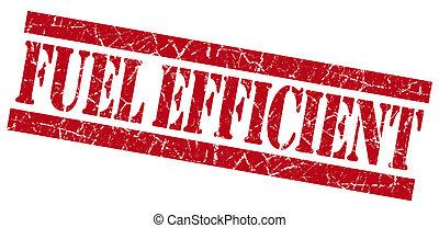 Fuel efficient grunge red stamp