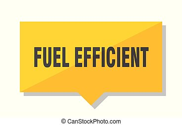 fuel efficient price tag - fuel efficient yellow square...