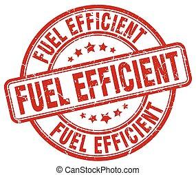 fuel efficient red grunge round vintage rubber stamp