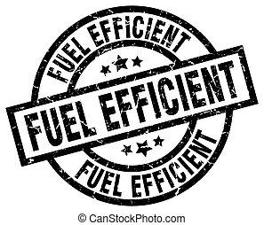 fuel efficient round grunge black stamp