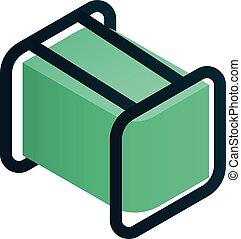Fuel electric generator icon, isometric style