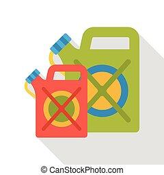 fuel gasoline flat icon