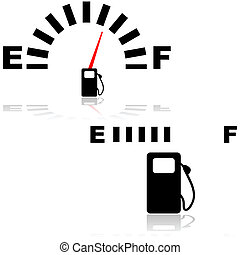 Fuel gauge - Icon illustration showing two types of fuel...