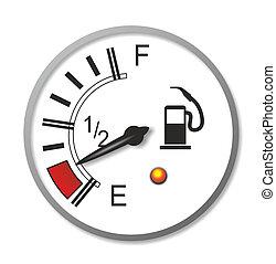 fuel gauge - illustration of an old-fashioned fuel gauge...