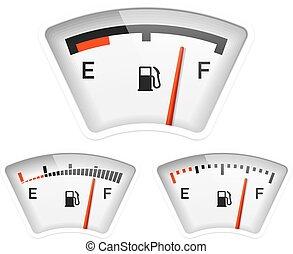 Fuel gauge illustration