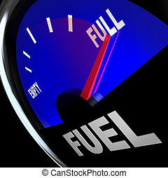 Fuel Gauge Needle Points to Full Gas Tank - The needle...