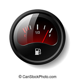 Fuel gauge - Vector illustration of a fuel gauge