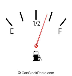 fuel gauge with symbol vector illustration on white